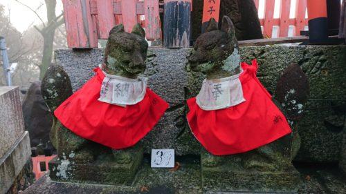 上社神蹟の狐像